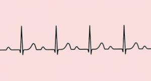 Een standaard getekend hartfilmpje tegen een roze achtergrond