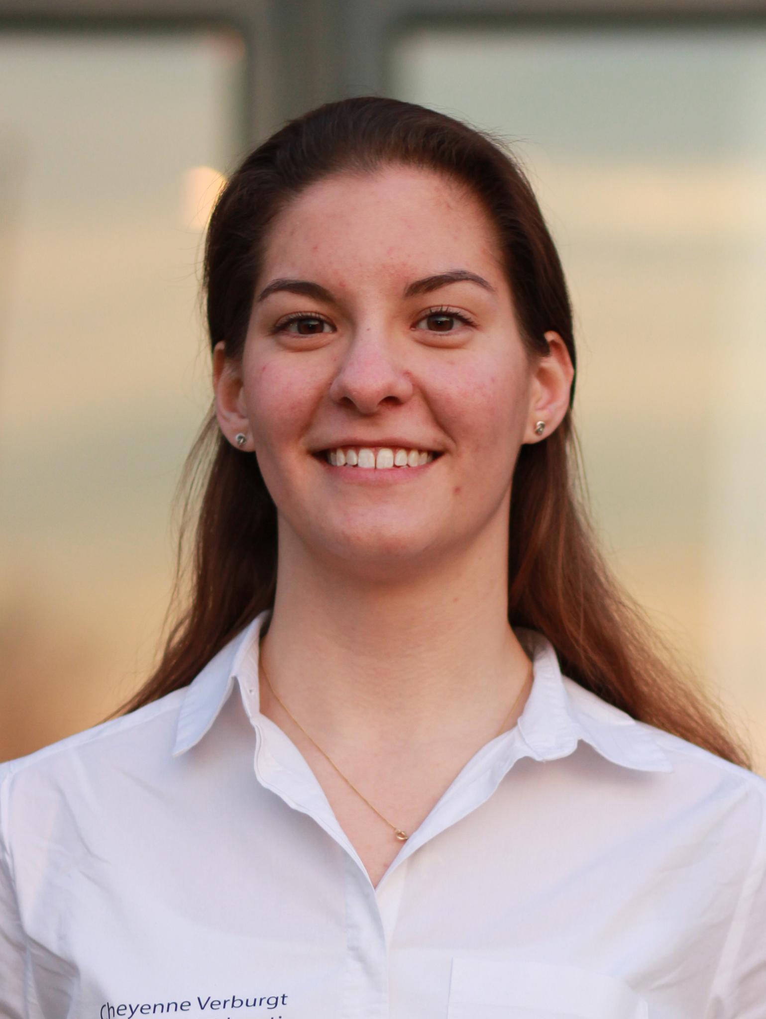 een foto van de secretaris van Taskforce QRS Nederland, Cheyenne Verburgt