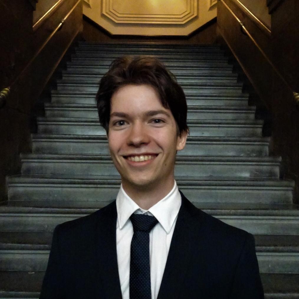een foto van de penningmeester van Taskforce QRS Nederland, Maurits-Jan Gielen