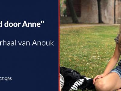 foto van reanimatie-instructeur Anouk met citaat uit interview