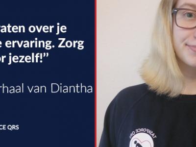 foto van reanimatie-instructeur Diantha met citaat uit interview